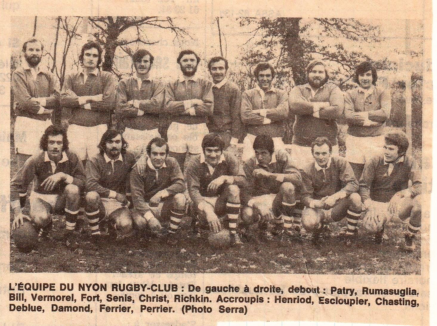 01. RCN Champion d'Automne de Ligue B le 21.12.1972