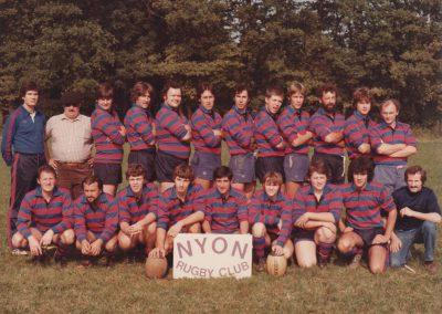 RC Nyon match au CERN saison 1983-1984